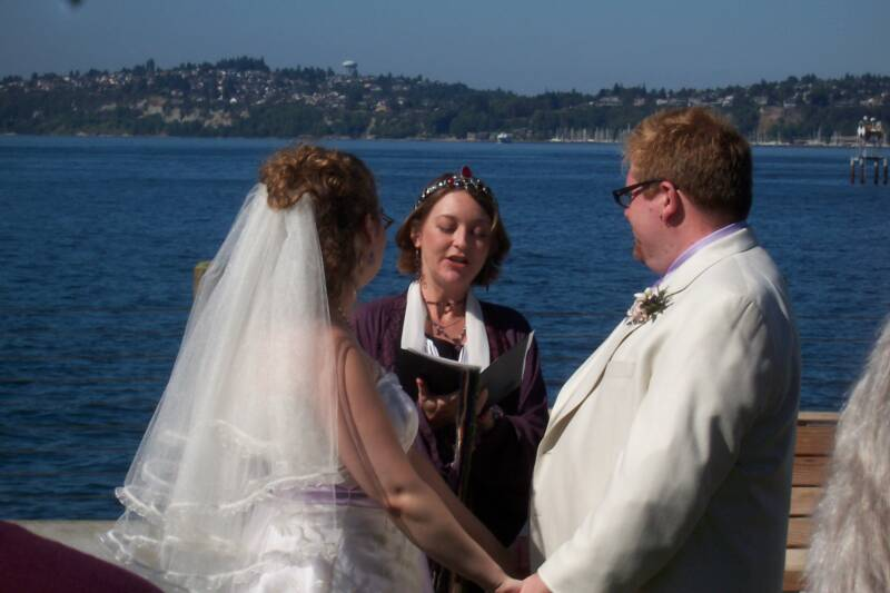 Seattle makes a lovely backdrop for their Handfasting